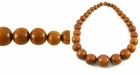 Graduated Round Bayong Wood Beads