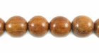 Round Bayong Wood Beads 8mm