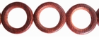 """O"" Ring Bayong Wood Beads 28mm"
