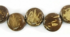 Natural Brown Disc Coco Beads 10mm