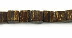 Natural Brown Coco Dice Beads 7mm