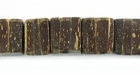 Natural Brown Coco Dice Beads 10mm