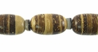 Tiger Oval Coco Beads 10x15mm