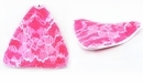 Wavy Triangle Wood Pendants Lace Pink