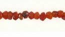 Carnelian Rondelle Faceted 5x4mm