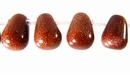 Red Briolette Goldstone Beads