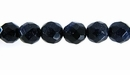 Blue Faceted  Round Goldstone Beads 8mm
