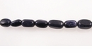 Blue Nugget  Goldstone Beads