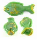 Green Fish Lampwork Glass Bead