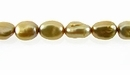 Metallic Nude  Rice Keshi Pearls 5x8mm
