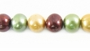 Multi-Color Burgundy Potato Pearls 7.5-8mm