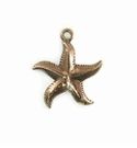Metalcast Copper Starfish Charm