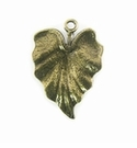 Metalcast Brass Fat Leaf Charm