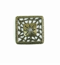 Metalcast Brass Diamond Web Design Charm