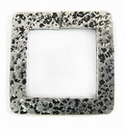 Metalcast Silver Hammered Square Pendant