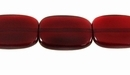 Red Horn Flat Rectangle Beads