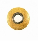 Round Metal Framed Nangka Wood Pendant