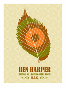 Ben Harper Boston, MA 10.05.12 Acoustic Tour Poster