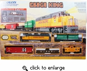 Bachmann Cargo King HO Scale Electric Train 155 Pcs Set