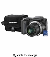 Olympus 228045 SP-610Uz Digital Camera (Black)