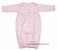 Magnolia Baby Blessed Baby Infant Girls Gown with Embroidery Cross - PINK