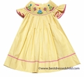 Claire & Charlie Baby Girls Yellow Polka Dots Smocked Birthday Hats Dress