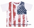 Eland Kids Boys Vintage Stars & Stripes American Flag Cotton T-Shirt