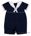Carriage Boutiques Infant Baby Boys Navy Blue Sailor Suit