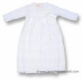 Baby Biscotti Infant Girls Gorgeous White English Eyelet Gown