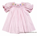 Petit Bebe by Anavini Baby Girls Pink Smocked Birthday Cake Dress