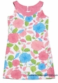 Maggie Breen by Funtasia Girls Sleeveless Linen Blend Peach / Green Floral Dress