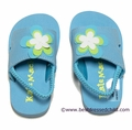 Kate Mack Girls Aqua Blue Wave Dancer Pool / Beach Shoes with Strap