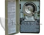 TORK 1104 TIME CLOCK: 24 HOUR, DPST, 208-277V,  INDOOR METAL ENCLOSURE