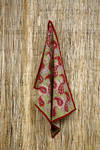 Set of Three Tea Towels - Paisley in Red & Green Tea Towels