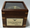 Glass Top Engraved Desk Compass: Engraved Emerson Quote I