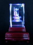 Light Base For Crystal Prism Laser Sculptures or Glass Figurines