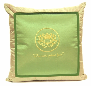 Throw Pillow - Om Lotus Design