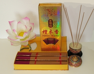 Sandalwood Indian Mysore Incense - Premium Gold Collection - Gift Boxed