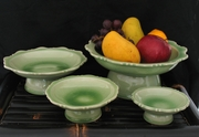 Thai Celadon Pedestal Serving Dishes
