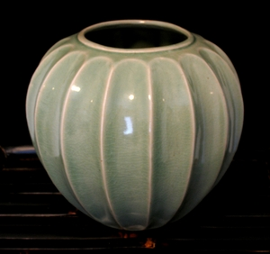 "Celadon Glaze ""Star Fruit"" Vase"