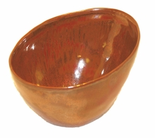 Copper Glaze Porcelain Ikebana Bowl