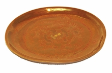 Copper Glaze Porcelain  Ikebana Bowl Under Dish