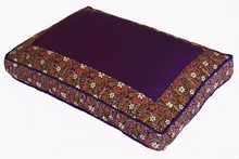 Meditation Bench Cushion - Purple Indochine Polished Cotton