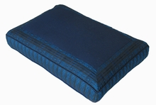 Meditation Bench Cushion - Blue Global Weave