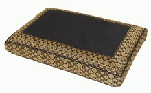 Meditation Bench Cushion - Black Jewel Brocade