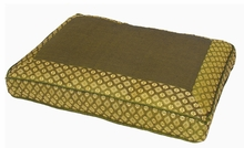 Meditation Bench Cushion - Sage Green Jewel Brocade