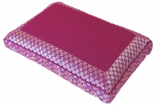 Meditation Bench Cushion - Magenta Jewel Brocade