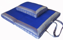 Folding Zabuton & Rectangular Cushion - Royal Blue