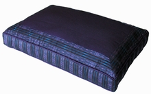 Meditation Bench Cushion - Purple Global Weave