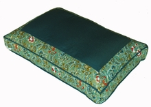 Meditation Bench Cushion - Teal Indochine Polished-Cotton Print